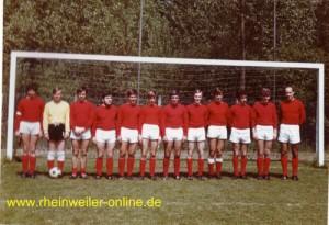 Die erste Mannschaft 1970